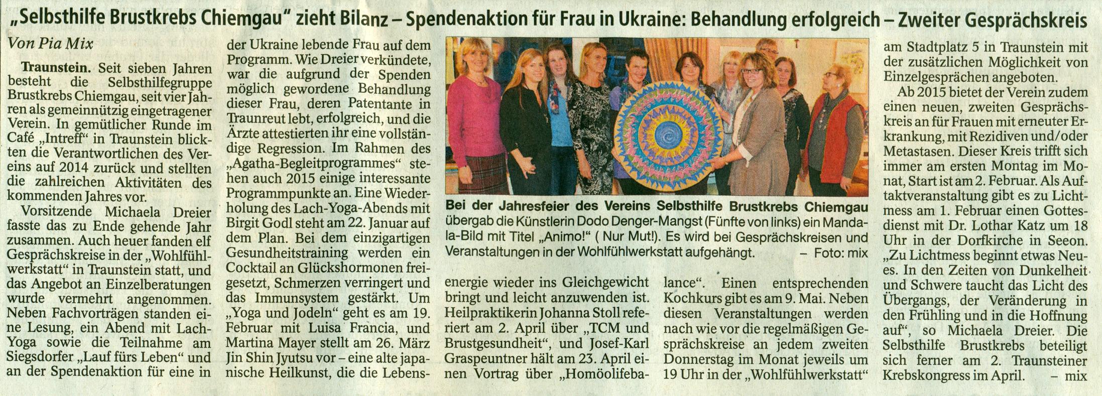 Trostberger Tagblatt 4.12.14